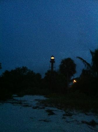 Sanibel Island Lighthouse: Light House At Night