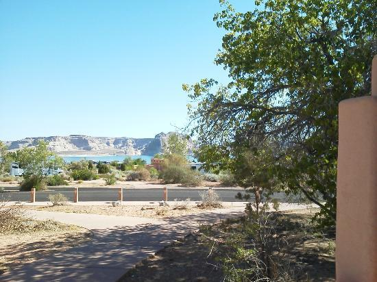 "Wahweap Campground: Great Views of  Lake Powell even from the very clean Restrooms on "" B cell block"""