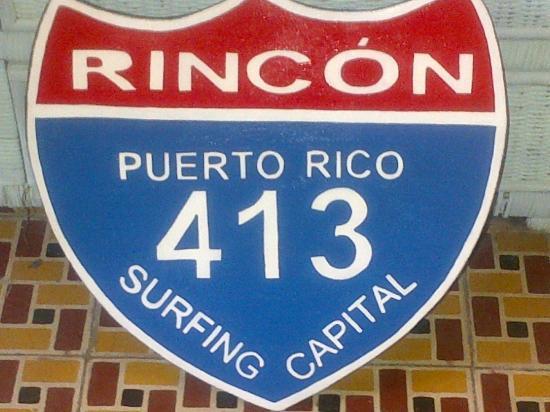 Casa Islena Inn: Rincon sign