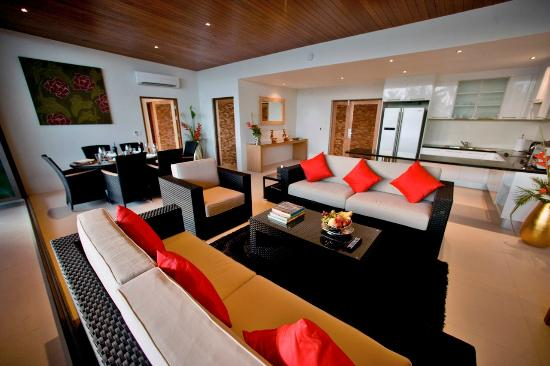 Beach Republic The Residences: Living Room of Two Bedroom Penthouse Sky Pool Villa