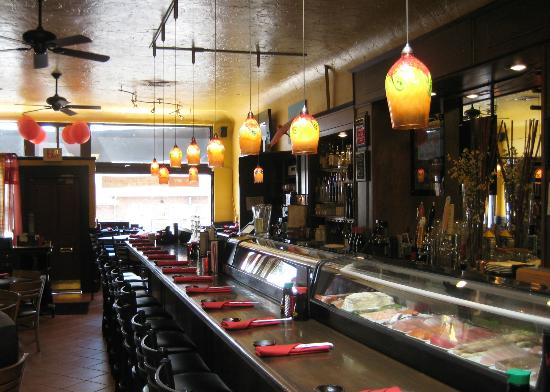 Karma Sushi Bar Grill : Look out on historic Route 66.
