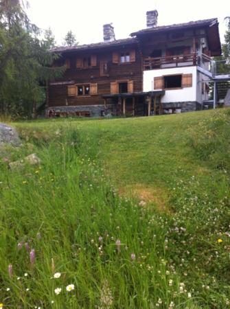 Rifugio Alpino L'Ermitage: una casetta in tronchi nel bosco