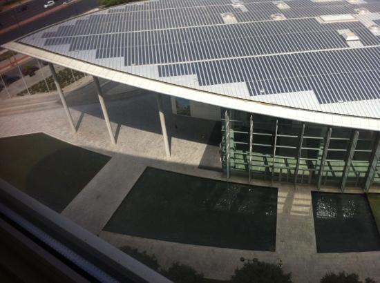 Palacio de Congresos de Valencia: view from my room at Hotel Sorolla