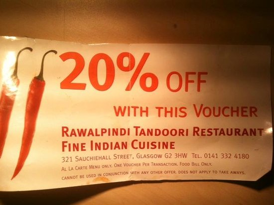 Rawalpindi Tandoori Restaurant: The voucher which they won't honour (given 3 hrs before)