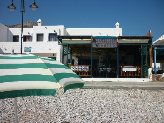 Nautilos Restaurant : The restaurant seen from the beach