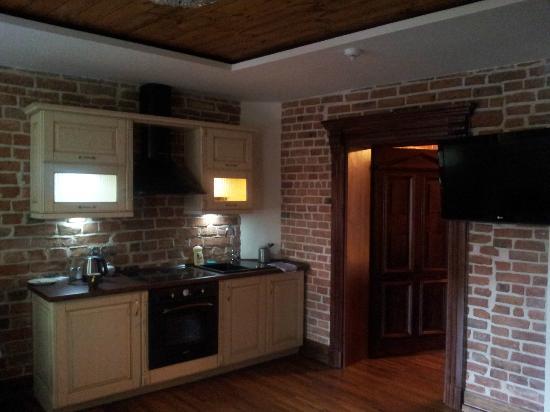 Apartamenty Torun - Strumykowa: Living room with kitchenette