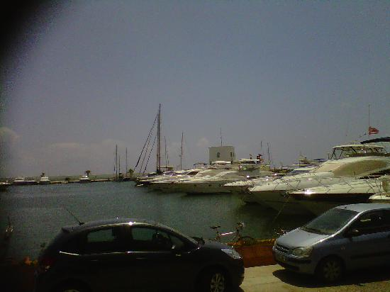 view from the terrace at Coffee Ink Marina Santa Eularia del Rio Ibiza