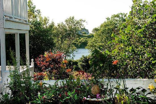 The Island Home Inn: View of the Salt Pond from the patio