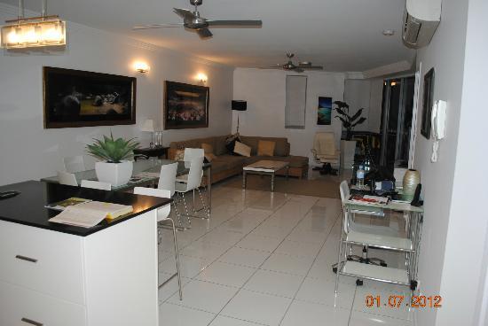 فيجن أبارتمنتس: Living area 