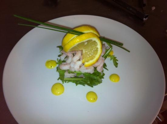 The Yorkshireman: prawn and caper stack with a lemon and black pepper dressing