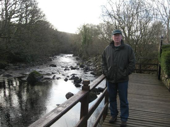 Tudor Lodge: My dad overlooking the creek