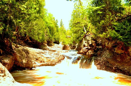 Cascade Lodge: Cascade River just a 10 minute walk from the lodge.