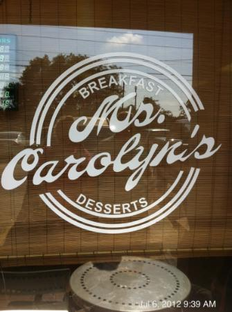 Ms. Carolyn's: front sign