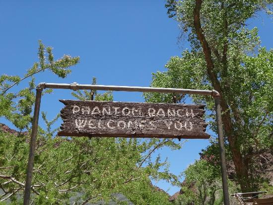 Phantom Ranch: Welcome sign