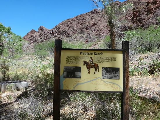 Phantom Ranch: Sign at bottom of canyon