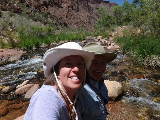 Phantom Ranch: 'Cooling off' in Bright Angel Creek