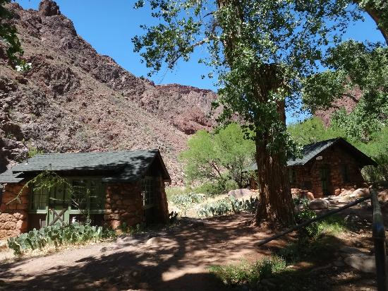 inside our cabin picture of phantom ranch grand canyon