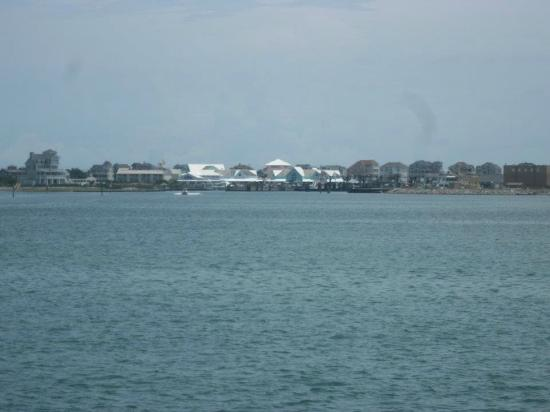 The Villas of Hatteras Landing: View of the Villas from the ferry to Okracoke