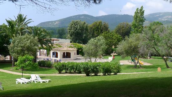 Club Med: vue du parc .
