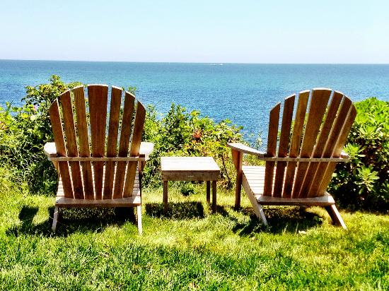 A Beach House Oceanfront Bed and Breakfast: Bring your favorite beverage and enjoy the view.