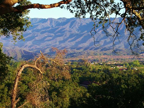 Ojai Retreat & Inn: What a View ! From the outdoors breakfast area