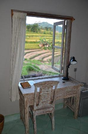 Sawah Indah Villa: Family room desk