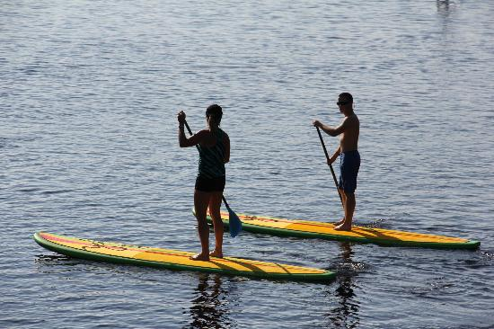 WaterColor Inn: YOLO paddleboarding on Western Lake at WaterColor