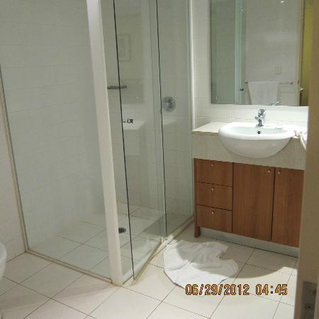 Waitara Waldorf Furnished Apartments: there are towels, shampoo and bath gel, NO tissue box