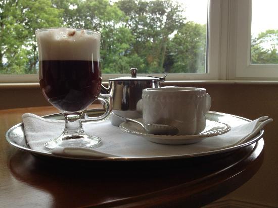 Loch Lein Country House: Irish Coffee and afternoon tea, made and delivered by Matthew.