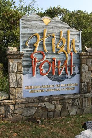 High Point Restaurant Sign