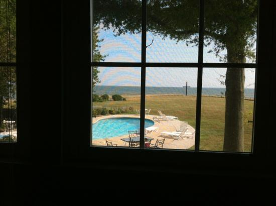 Black Walnut Point Inn: view from the Tilghman Room inside the Inn