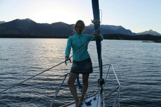 San Carlos de Bariloche, Argentyna: Yachting lago Nahuel Huapi