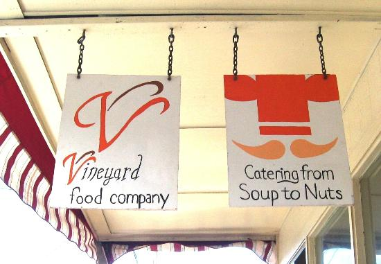 Vineyard Food Company and Catering From Soup to Nuts: A small spot on Vineyard between Market and Central