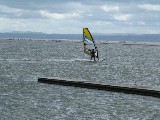 West Kirby Marine Lake: windsurfer
