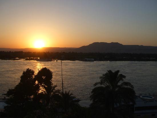 Iberotel Luxor : sunset from room balcony