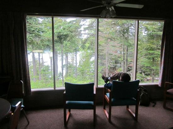 Rock Harbor Lodge: View from cabin 212
