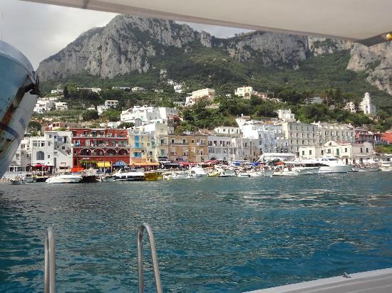 Hotel Relais Maresca: Chegando a Capri e vendo o hotel