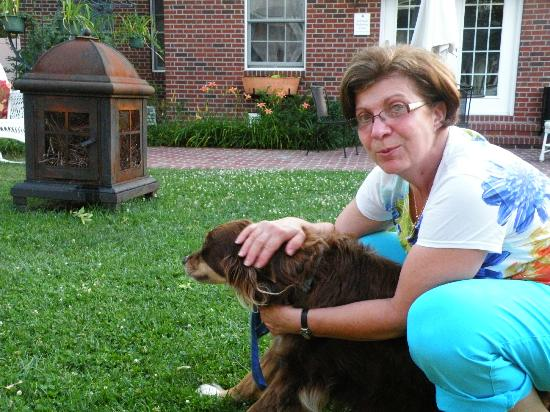 Kilmarnock Inn : Pet therapy with Sandy and Bear