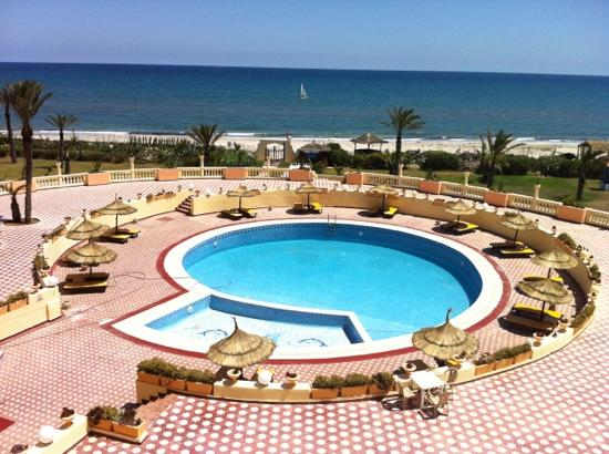 Sirocco Beach: vue de notre chambre tôt le matin
