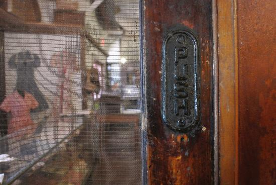 Tupper Museum: The original door to Tupper's store