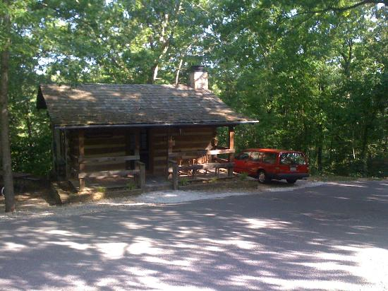 Silver Dollar City's Wilderness: The outside of our cabin