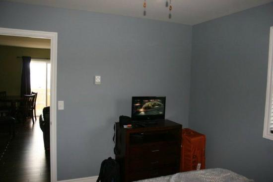 Gros Morne Suites: Another bedroom showing the TV