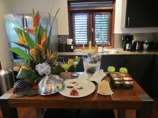 Baoase Luxury Resort: Welcome goodies
