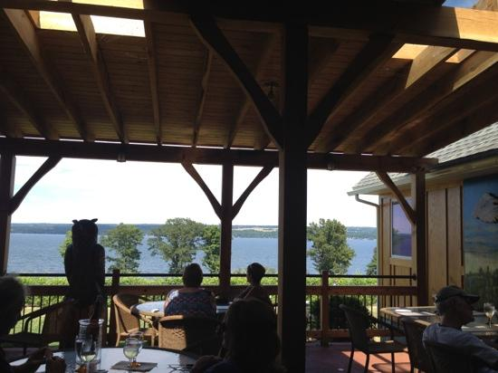 The Thirsty Owl Bistro: the view from the patio