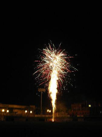 Dozer Park: fireworks after a game