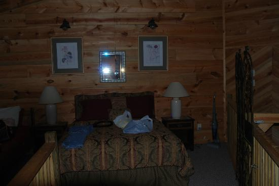 Bear Creek Lodge and Cabins: loft bedroom