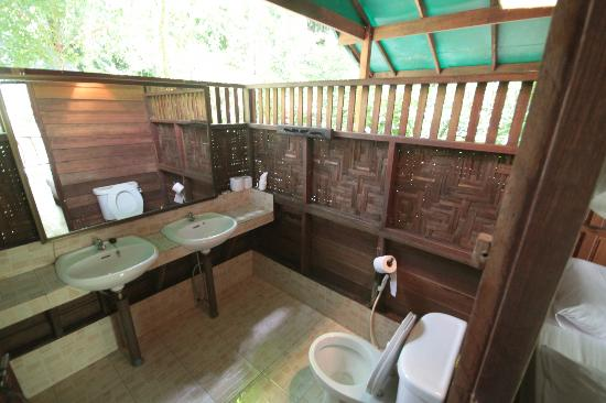 our jungle house romance tree house bathroom