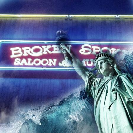 Broken Spoke Saloon Laconia: Front of the Spoke 4th of july add.