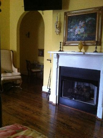 Stone Fort inn: Yes -- that's a fire place in my room!