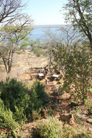 Muchenje Safari Lodge: Decked area at lodge / view